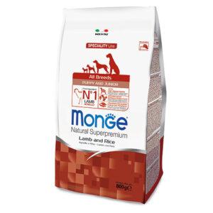 Monge Dog Speciality Puppy&Junior корм для щенков всех пород ягненок с рисом и картофелем 800г