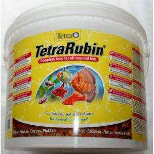 TetraRubin корм в хлопьях для улучшения окраса всех видов рыб 10 л/2050 гр (ведро)