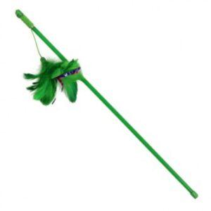 С4012 Удочка-дразнилка «Зеленые перья», 100/500мм