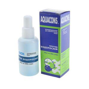 Aquacons Против водорослей 50мл., для подавления роста водорослей в пресноводных аквариумах