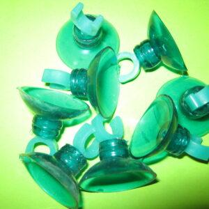 Присоска силиконовая Крепления(зеленое)=30мм, пластиковое полукольцо(зеленое) d=8мм