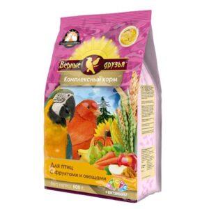 Верные друзья 500гр. корм для птиц с фруктами и овощами