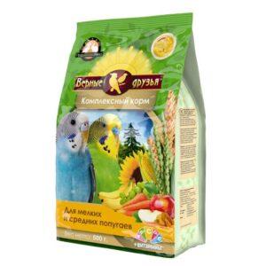 Верные друзья 500г корм для мелких и средних попугаев с витаминами