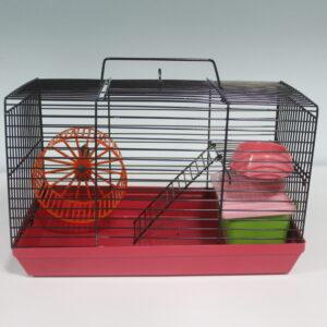 Ред пластик Клетка для джунгариков с этажом 27*15*16см