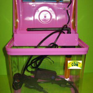 BARBUS  AQUARIUM 003 МИНИ-аквариум (LED + top Filtr) ФЕОЛЕТОВЫЙ 4л