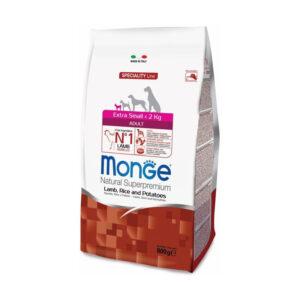 Monge Dog Speciality ExtraSmall корм для вз-х собак миниа-х пород ягненок с рисом и картофелем 800г