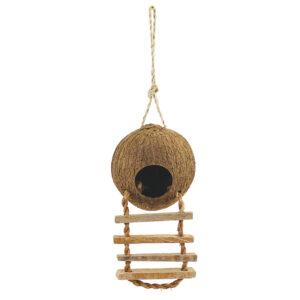 Triol Домик для птиц из кокоса с лестницей, 100-130/450мм CN02