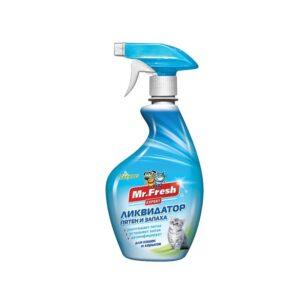 Mr.Fresh 3в1 Ликвидатор пятен и запаха для кошек и хорьков 500мл