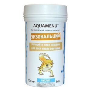 Aquamenu «Экзокальций» 100 мл. – функциональный корм для всех видов рептилий.