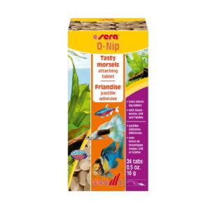 SERA Корм для рыб O-NIP 16гр. 24шт. Таблетки прикрепляются к стеклянной стенке аквариума.