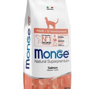 Monge Cat Salmon корм для взрослых кошек с лососем 10 кг