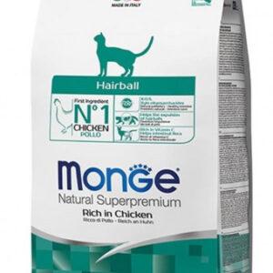 Monge PFB Cat Hairball корм для кошек для выведения комков шерсти 10 кг