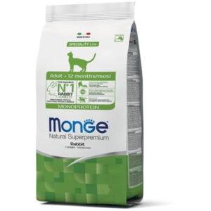 Monge PFB Monoprotein корм для взрослых кошек с кроликом 10 кг