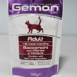 Gemon Cat Pouch для взрослых кошек с говядиной