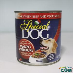 Special Dog консервы для собак кусочки говядины с овощами 720г