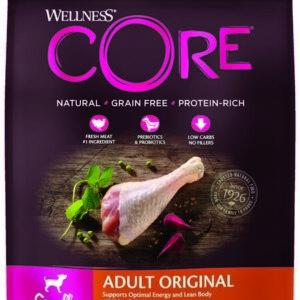 Wellness CORE Корм из индейки с курицей для взрослых собак мелких пород 1,5 кг