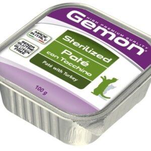 Gemon Cat Sterilised консервы для стерилизованных кошек паштет индейка 100г