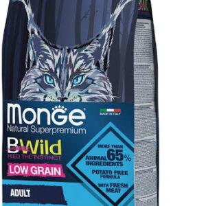 Monge Cat BWild LOW GRAIN низкозерновой корм из анчоуса для взрослых кошек 1,5 кг