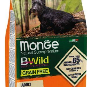 Monge Dog BWild GRAIN FREE Mini беззерновой корм из мяса утки с картофелем для взрослых собак мелких пород 2,5 кг