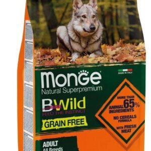 Monge Dog GRAIN FREE беззерновой корм для собак всех пород утка и картофелем 2,5 кг