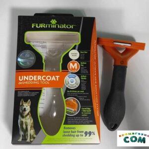 Фурминатор FURminator M для средних собак с короткой шерстью 7 см.