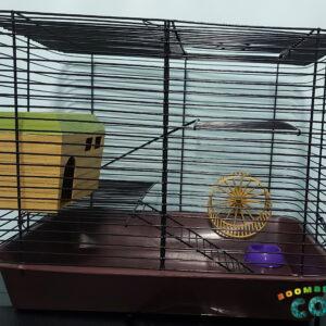 РЕД ПЛАСТИК 4206 Клетка д/мелких грызунов«Дарэлл» с этажом, шаг прута 10 мм, 38*26*30 см (укомплект)