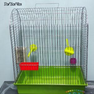 РЕД ПЛАСТИК 4223 ТМ «Дарэлл» Клетка д/птиц «РОМА №4» цветная, шаг прута 12 мм, 37см*26см*48см